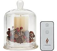 Luminara 6 Glass Cloche with 4 Pillar w/2 Fills & Remote - H214000