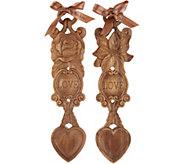 Casa Zeta-Jones Set of 2 Traditional Welsh Love Spoons w/ Box - H215200