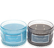 HomeWorx by Harry Slatkin Set of 2 4-Wick Woodland Candles - H216900