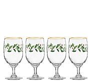 Lenox Holiday Set of 4 Iced Beverage Glasses - H284500