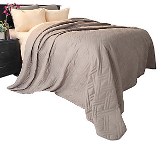 Lavish Home Solid Color Twin Quilted Blanket