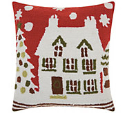 Mina Victory Hook House Multicolor 18 x 18 Throw Pillow - H301600