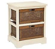 Safavieh Jackson 2-Drawer Storage Unit - Whitew/Cane Drawers - H362800