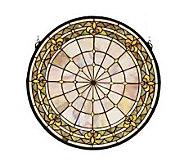 Tiffany Style Round Fleur-de-Lis Window Panel - H123701