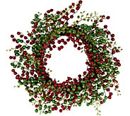 22 Glitter Berry Wreath by Valerie - H208701