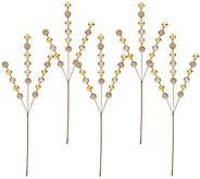 Set of 5 Glitter Ball Stems by Valerie - H209501