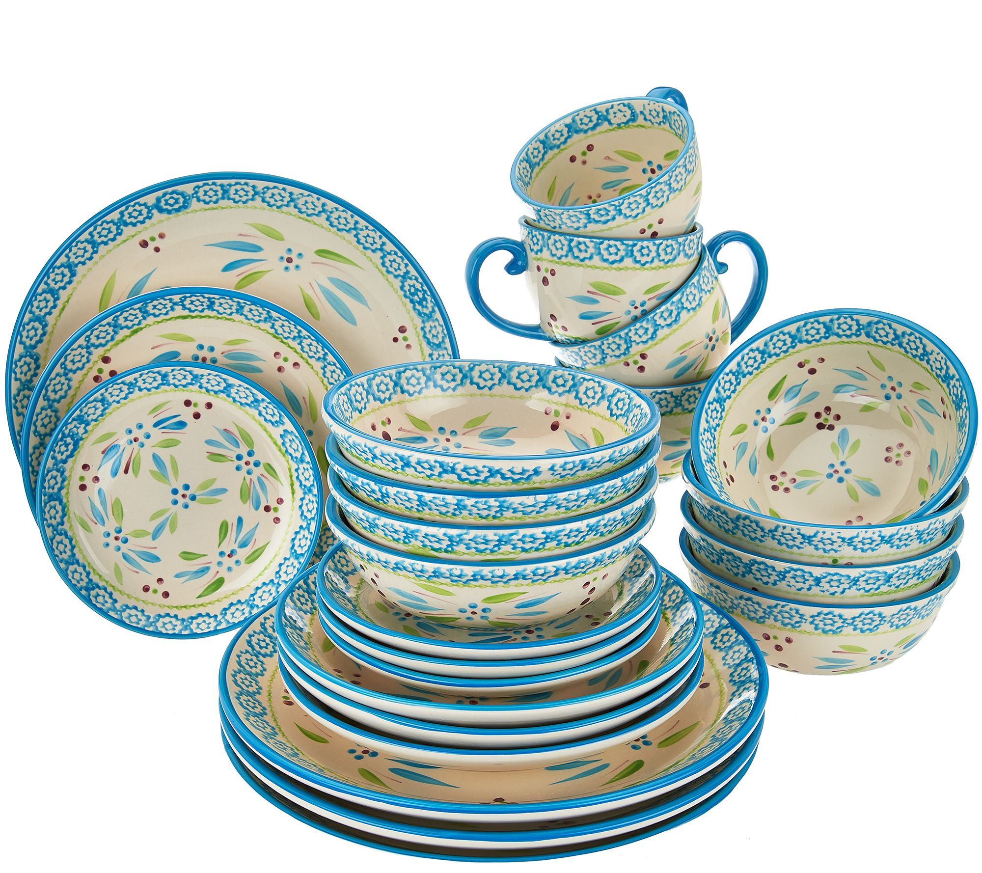 As Is\. As Is Temp Tations 24 Pc Old World Service For 4 QVC Com  sc 1 st  Best Image Engine & Appealing Dinnerware Sets Sale Clearance Uk Images - Best Image ...