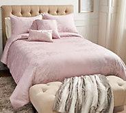 Casa Zeta-Jones Metallic Printed Cotton Queen Comforter Set - H214701