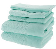 Casa Zeta-Jones 6-Piece 100Cotton Jacquard Border Towel Set - H215201