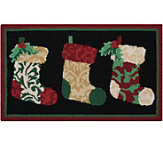 Waverly 21 x 33 Christmas Stockings Rug by Nourison - H293101