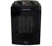 Vie Air 1500W Portable 2-Settings Home Black Ceramic Heater - H294201