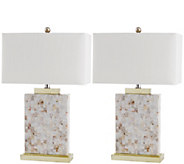 Safavieh Set of 2 Tory Shell Table Lamp - H297901