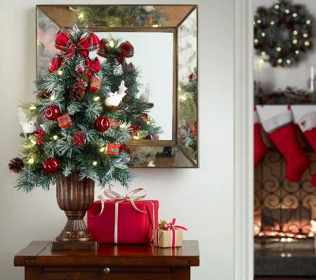 """Kringle Express 24"""" Pre-lit Decorated Christmas Tree in Gift Box — QVC.com"""