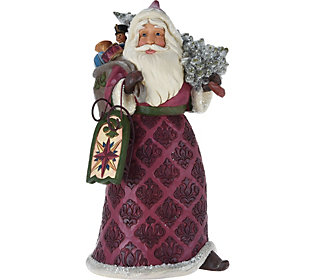 Jim Shore Victorian Collection Santa with ToyBag