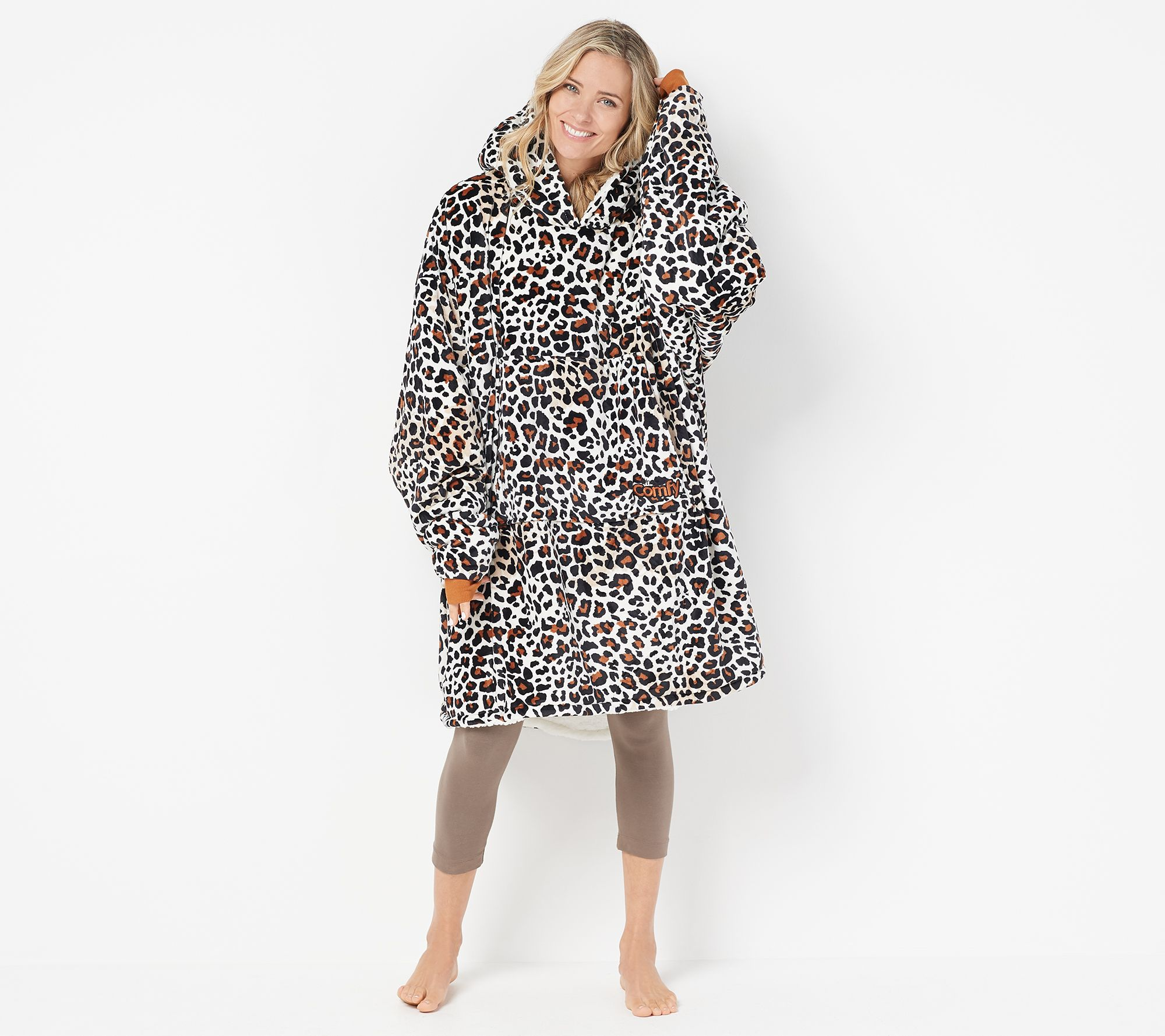The Comfy Original Oversized Blanket Sweatshirt - Page 1 — QVC.com 9b90bc186