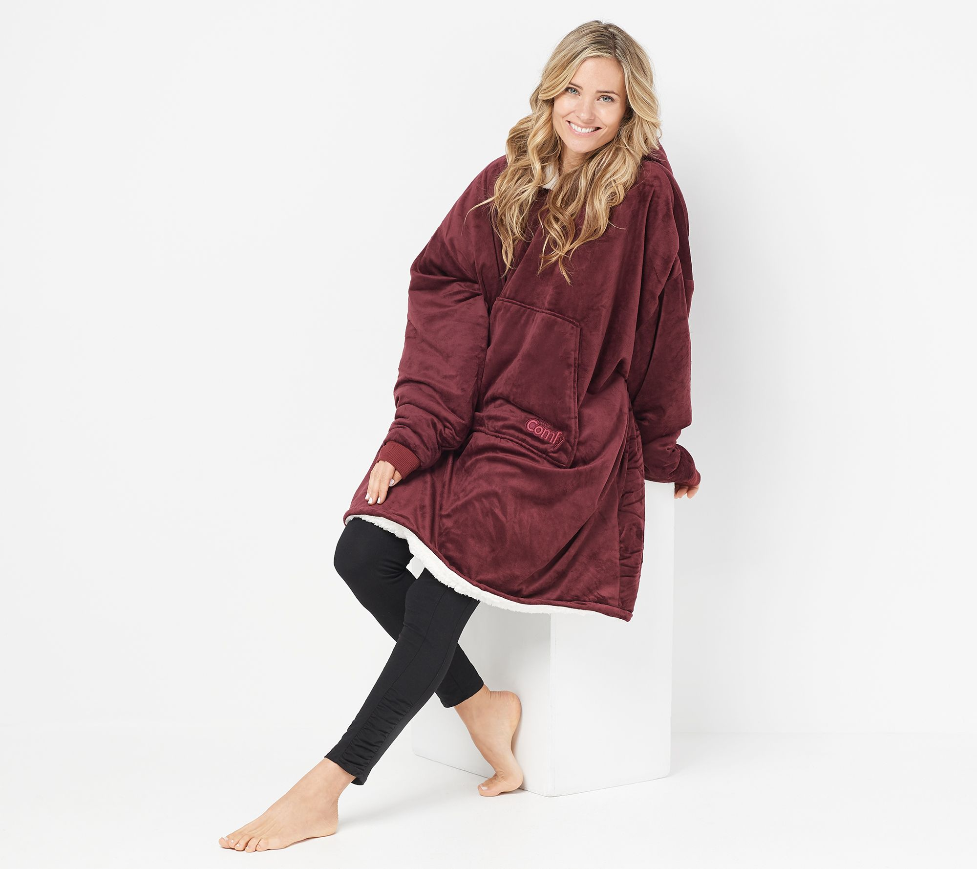 The Comfy Original Oversized Blanket Sweatshirt - Page 1 — QVC.com abda95e26