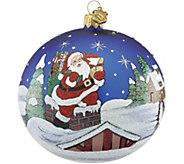 Reed & Barton Classic Christmas Rooftop Santa Ball Ornament - H295102