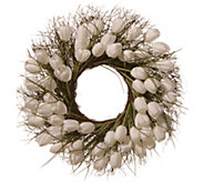 National Tree Company 24 White Tulip Wreath - H300502