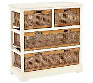 Safavieh Jackson 4-Drawer Storage Unit - Whitew/Cane Drawers - H362802