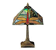 Tiffany Style 15-1/2H Dragonfly Lamp - H108603