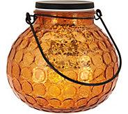 Illuminated Hammered Glass Round Lantern by Valerie - H210703