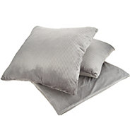 Inspire Me! Home Decor 50x70 Metallic Throw with S/2 24 Pillows - H213003