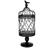Scroll Design Metal Footed Birdcage w/ Bird Finial by Valerie - H213803