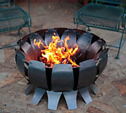 Desert Steel Marbled Steel Tanami Fire Pit - H293003