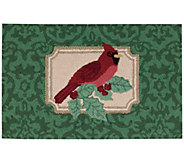 Waverly 21 x 33 Christmas Cardinal Rug by Nourison - H293103