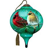 3.00 Cardinals and White Pine Ornament by NeQwa - H294303