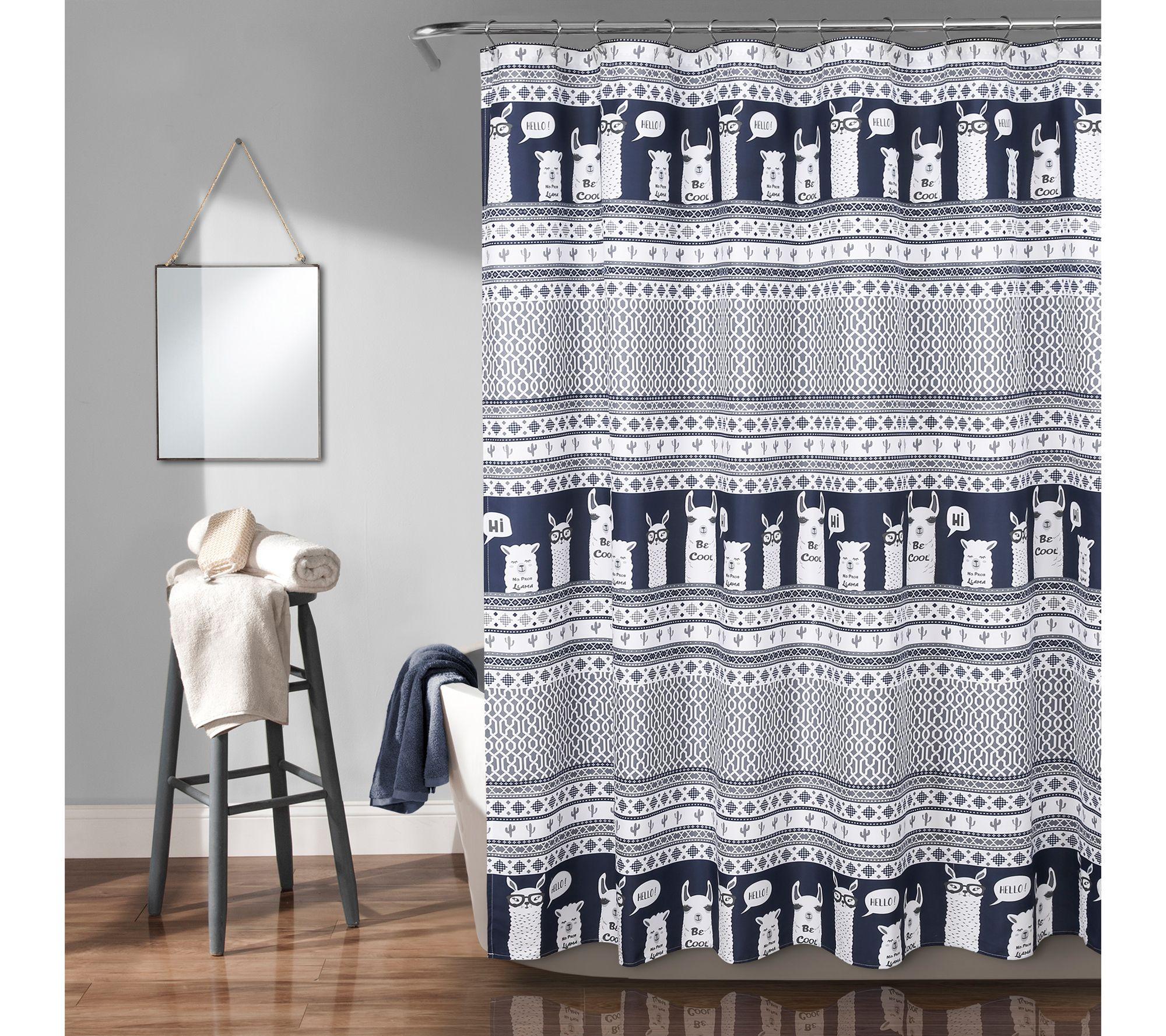 "Lush Decor Pineapple Toss Shower Curtain 72/"" x 72/"" Gold"