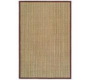 Serenity Stripe Natural Fiber Sisal 6 x 9 Rugwith Border - H176505