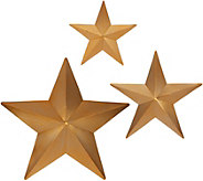 Kringle Express Set of 3 Illuminated Metal Stars w/ Chasing Lights - H216505