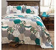 Briley Turquoise 3-Piece King Quilt Set by LushDecor - H287805