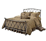 Hillsdale Furniture Silverton Qn Bed-Brushed Silvertone Finis - H156506