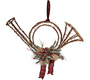 Plow & Hearth Illuminated Rattan Holiday Musical Instruments - H211606