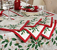 Lenox Holiday Choice of S/6 Napkins or S/4 Placemats - H212306