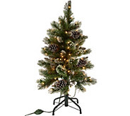 3 Glistening Pine Incandescent Slim Tree by Valerie - H215906