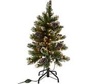 3 Glistening Pine Incandescent Slim Tree by Valerie - H215906