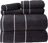 Lavish Home Pin Stitch 100Cotton 6-PieceTowel Set - H291506