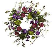 20 Veranda Garden Wreath by Nearly Natural - H295606