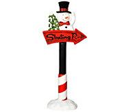 36 Snowman Skating Rink Sign by Vickerman - H301506