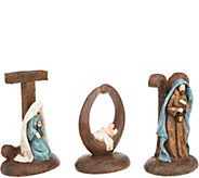 3-Piece Joy Figurine with Holy Family Accents by Valerie - H215307
