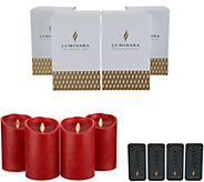 Luminara Set of (4) 5 Flameless Candles with Remotes & Boxes - H217507