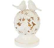 Illuminated Cut-Out Sphere with Bird Design Topper by Valerie - H217707