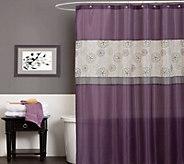 Covina Purple Shower Curtain by Lush Decor - H292907