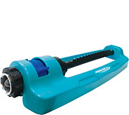 Sun Joe Steel Base Oscillating Sprinkler with Adjustable Spray - H301307