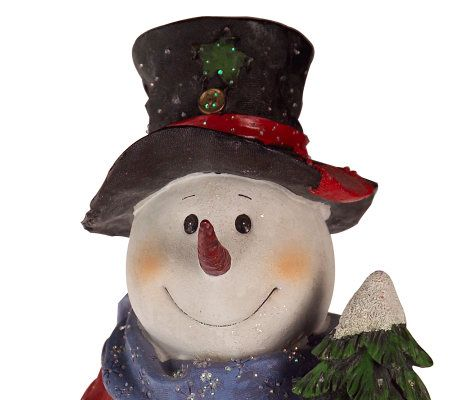 19 fiber optic resin snowman wchristmas tree and shovel qvccom