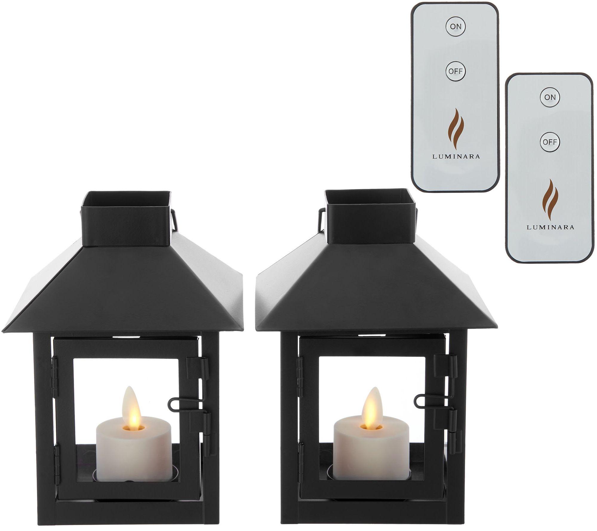 cf22fec6c0 Luminara Set of 2 Mini Lanterns with Tea Lights & (2) Remotes - Page 1 —  QVC.com