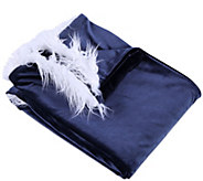 Inspire Me! Home Decor 50 x 60 Velsuede Throw with Faux Fur - H216908